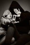 Bezdomny matkuje z jej córką obrazy royalty free