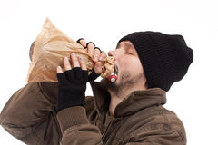 bezdomny mężczyzna Obraz Royalty Free