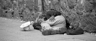 Bezdomny w Bogota Fotografia Royalty Free