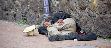 Bezdomny w Bogota Zdjęcia Stock