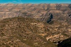 Bezdrzewne góry Murcia Obraz Royalty Free