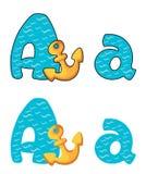 Bezeichnen Sie a-Anker mit Buchstaben Stockbild