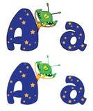 Bezeichnen Sie a-Ausländer mit Buchstaben Stockfotos