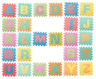 Bezeichnen Sie a bis z mit Buchstaben stockbild