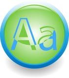 Bezeichnen Sie a-Ikone mit Buchstaben Lizenzfreies Stockfoto