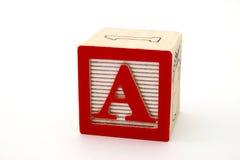 Bezeichnen Sie a mit Buchstaben Stockfoto