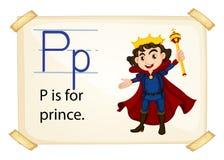 Bezeichnen Sie P mit Buchstaben Lizenzfreie Stockfotografie