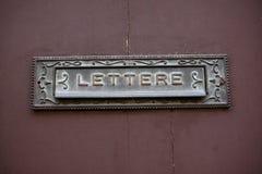 Bezeichnen Sie Zeichen mit Buchstaben Lizenzfreie Stockfotografie