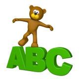 Bezeichnet ABC mit Buchstaben Lizenzfreie Stockbilder
