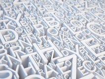 Bezeichnet Hintergrund mit Buchstaben stock abbildung
