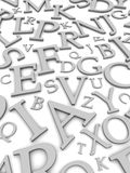 Bezeichnet Hintergrund mit Buchstaben lizenzfreie abbildung
