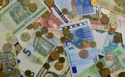 Bezeichnungen von Euromünzen Lizenzfreie Stockfotografie