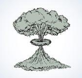 bezem Vector tekening Stock Afbeelding