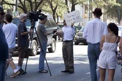 Bezet Austin - Oktober 15 Protest Maart Stock Foto