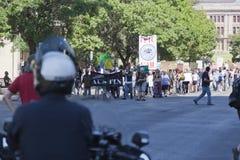 Bezet Austin - Oktober 15 Protest Maart Stock Afbeelding