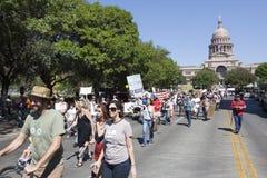 Bezet Austin - Oktober 15 Protest Maart Stock Fotografie