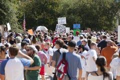 Bezet Austin - Oktober 15 Protest Maart Stock Afbeeldingen