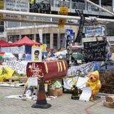Bezet Centrale beweging, Hong Kong Royalty-vrije Stock Foto
