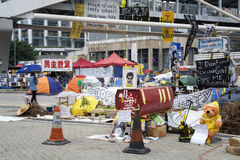 Bezet Centrale beweging, Hong Kong Stock Foto