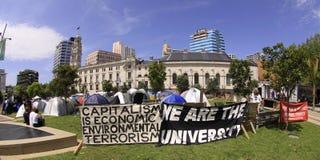 Bezet de demonstratie Auckland van Wall Street Stock Fotografie