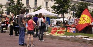 Bezet de demonstratie Auckland van Wall Street Royalty-vrije Stock Foto's