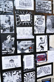 Bezet de protesteerdersmuur van Londen Royalty-vrije Stock Fotografie