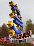 Bezet de Protesten van Frankfurt Royalty-vrije Stock Afbeeldingen
