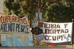 Bezet de Tekens en de Banners van La bij Kamp Royalty-vrije Stock Afbeeldingen