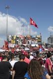 Bezet Gezi, Taksim, Istanboel Stock Foto's