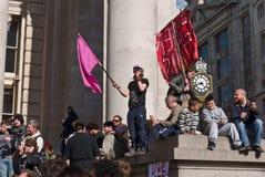 Bezet het protest van Londen bij de Koninklijke Uitwisseling Stock Afbeelding