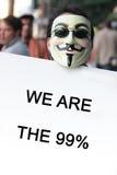 Bezet het protest van Los Angeles Royalty-vrije Stock Afbeelding