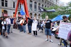 Bezet het Protest van Wall Street Stock Foto's