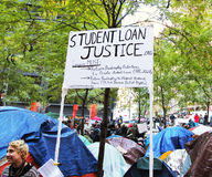 Bezet het Protest van Wall Street Royalty-vrije Stock Foto