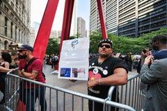Bezet het Protest van Wall Street in Park Zuccotti Royalty-vrije Stock Afbeeldingen