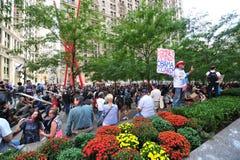 Bezet het Protest van Wall Street in Park Zuccotti Stock Afbeelding