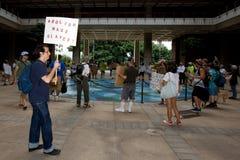Bezet Honolulu/anti-APEC protest-2 Royalty-vrije Stock Afbeelding