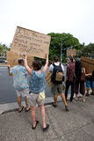 Bezet Honolulu/anti-APEC protest-30 Stock Foto's