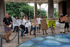 Bezet Honolulu/anti-APEC protest-4 Stock Foto