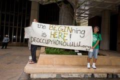 Bezet Honolulu/anti-APEC protest-8 Royalty-vrije Stock Afbeelding