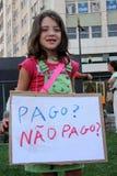 Bezet Lissabon - Globale Protesten 15 van de Massa Oktober Stock Afbeeldingen
