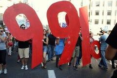 Bezet Lissabon - Globale Protesten 15 van de Massa Oktober Stock Foto's