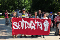 Bezet protestverjaardag in Ottawa Royalty-vrije Stock Foto's