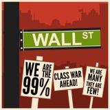 Bezet Wall Street Royalty-vrije Stock Foto's