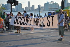 Bezet Wall Street Stock Fotografie