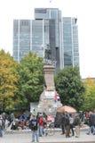 Bezet Wall Street in Montreal (Quebec Canada) Royalty-vrije Stock Foto's