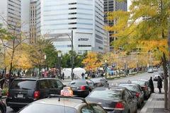 Bezet Wall Street in Montreal (Quebec Canada) Stock Afbeelding