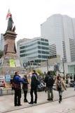 Bezet Wall Street in Montreal (Quebec Canada) Royalty-vrije Stock Fotografie