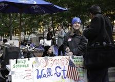 Bezet Wall Street Protestor Stock Foto