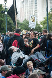 Bezet zich Wall Street-Protesteerders het verzamelen Stock Afbeelding