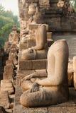 Bezgłowe statuy przy Borobudur świątynią w Yogyakarta, Jawa, Indonezja Fotografia Stock